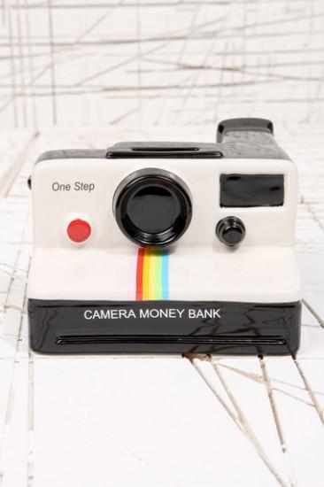 White Polaroid Money Bank