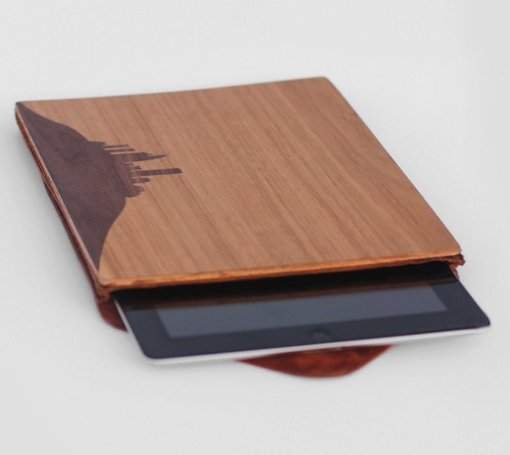 Nisnas Industries Wood And Leather iPad Case
