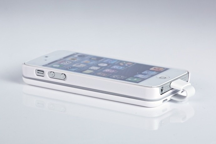 External Rechargeable Backup Battery Case For iPhone 5