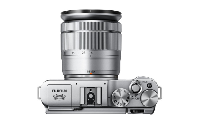 Fujifilm X-M1 Compact System Digital Camera Top View