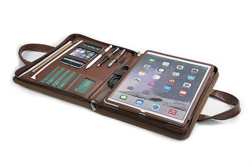 Compact Leather Briefcase for iPad Pro