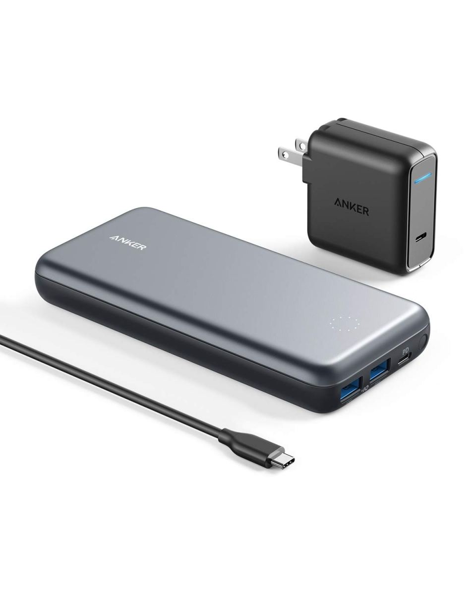 Anker PowerCore+ 19000 PD Hybrid Portable Charger and USB-C Hub