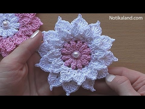 free leaf crochet pattern diagram verizon fios router wiring [video tutorial] very easy spectacular flower - knit and daily