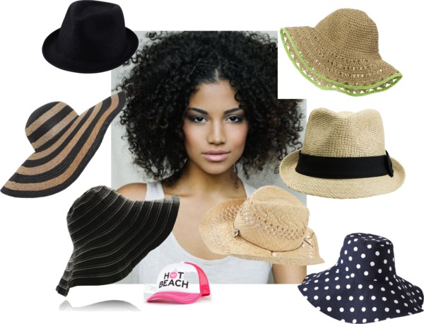 Hat on curly girl
