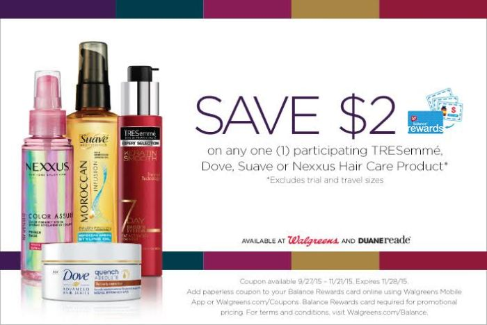 hair products saving coupon