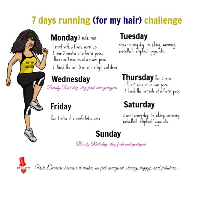 7 days challenge for hair growth