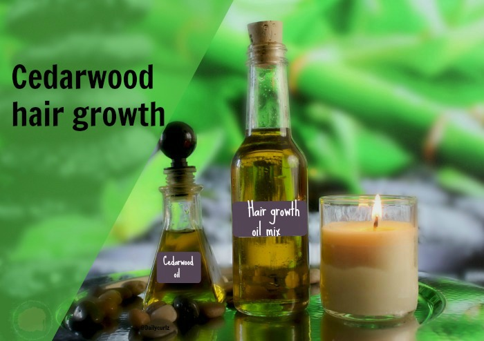 Cedarwood essential oil can help stimulate the hair follicles by