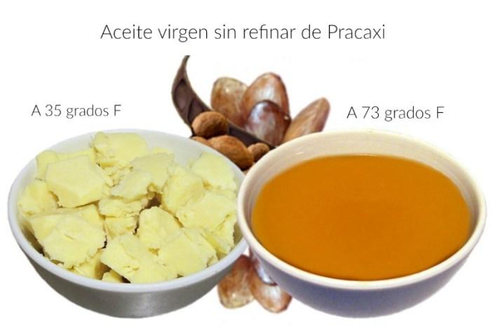Propiedades hidratantes del aceite de semilla de Pracaxi