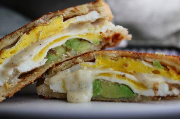 egg and avocado sandwich