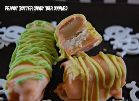 Halloween Recipes: Peanut Butter Candy Bar Cookies