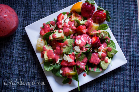 Strawberry, Avocado, Spinach Salad with Strawberry Vinaigrette