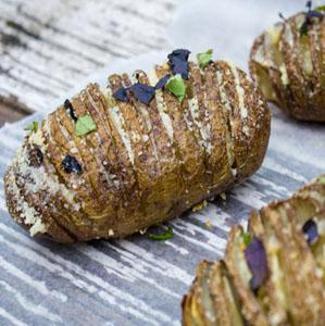 Parmesan Hasselback Potatoes