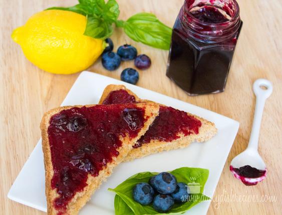 Blueberry Lemon Basil Jam Recipe
