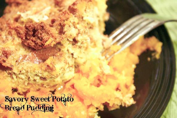 Savory Sweet Potato Bread Pudding