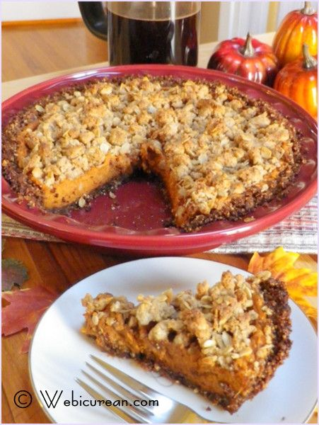 Sweet Potato Pie with Gingersnap-Pecan Crust