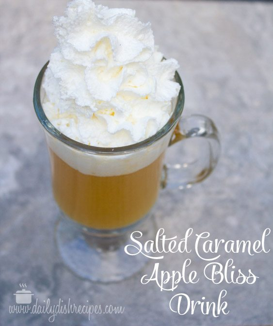 Hot Salted Caramel Apple Bliss Beverage