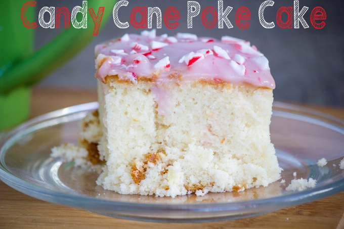 Candy Cane Poke Cake