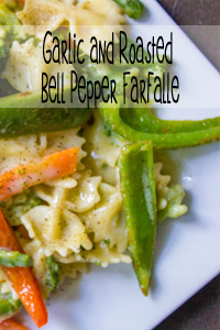 Garlic and Roasted Belle Pepper Farfalle