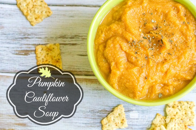 Roasted Garlic Cauliflower Pumpkin Soup with De Nigris Vinegars #lovemyvinegar #shop