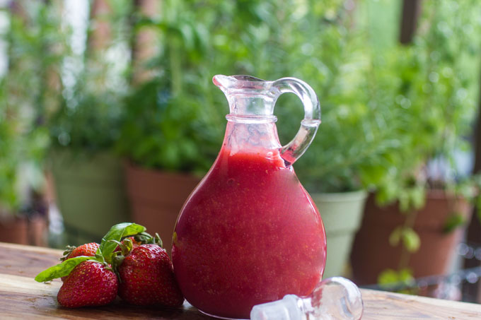 Homemade Strawberry Basil Syrup Recipe