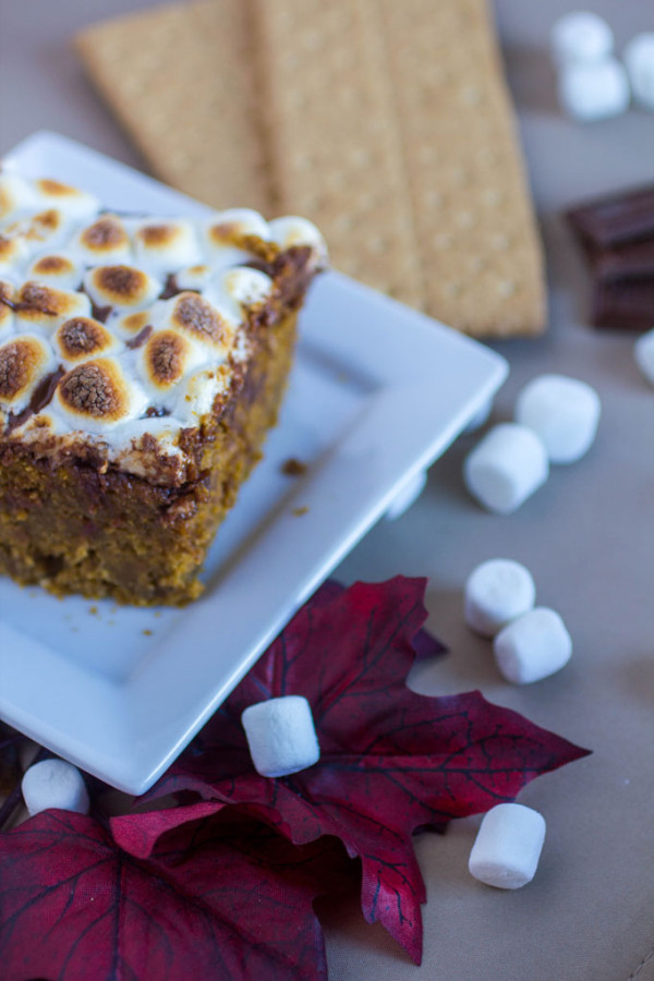 Pumpkin S'mores Cake #ThisisWholesome #CG #CleverGirls #ad