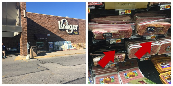 Wright Brand Bacon at Kroger