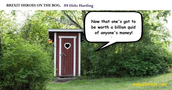 Brexit Heroes on the Bog. Dido Harding.  Daily Distress satire.