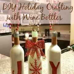 Christmas Decorating Ideas For The Kitchen Sink Stainless Steel Diy Holiday Crafting With Wine Bottles - Daily Life