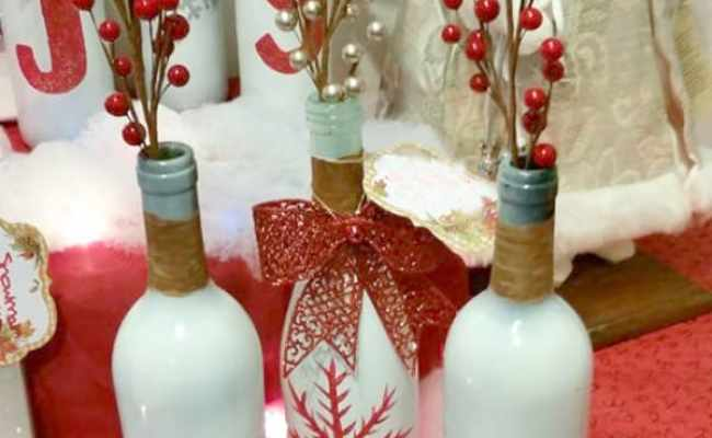 Diy Holiday Crafting With Wine Bottles Daily Diy Life