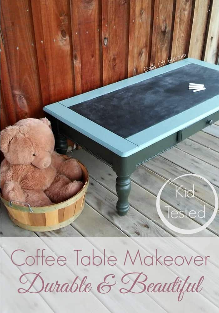 Durable and Beautiful Coffee Table Makeover with Dixie Bell