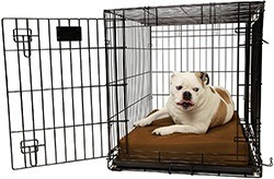 """Orthopedic 4"""" Dog Crate Pad by Big Barker. Waterproof & Tear Resistant. Thick, Heavy Duty, Tough, Washable Cover"""