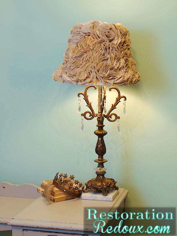 Ruffled Lamp Shade Tutorial  Daily Dose of Style