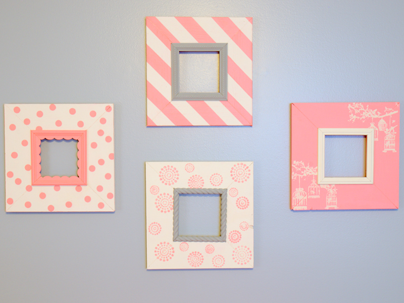Pretty in Pink DIY Nursery Picture Frames  Daily Dose of Style