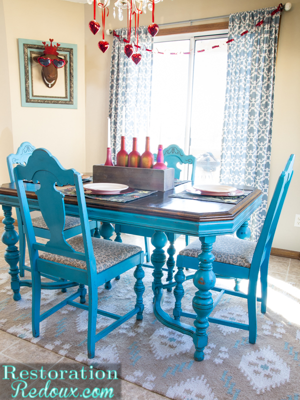Turquoise Dining Table  Daily Dose of Style