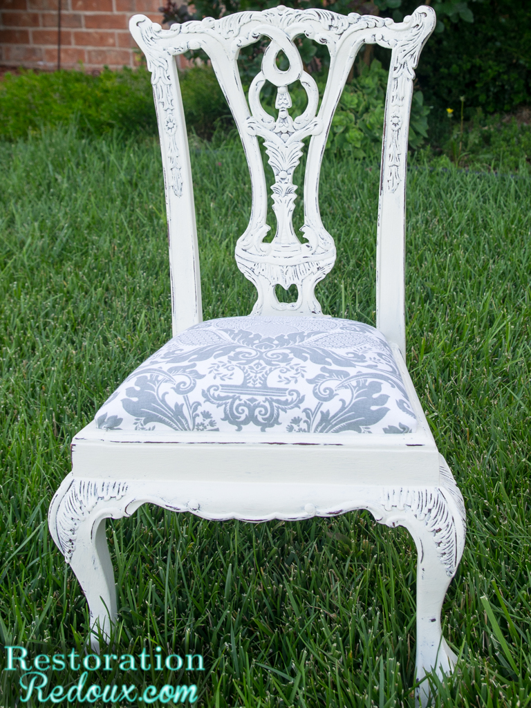 Plaster Painted Vintage Childs Chair  Daily Dose of Style