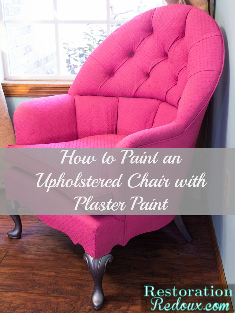 Pink Plaster Painted Vintage Chair  Daily Dose of Style