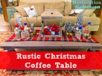 Rustic Christmas Coffee Table - Daily Dose of Style