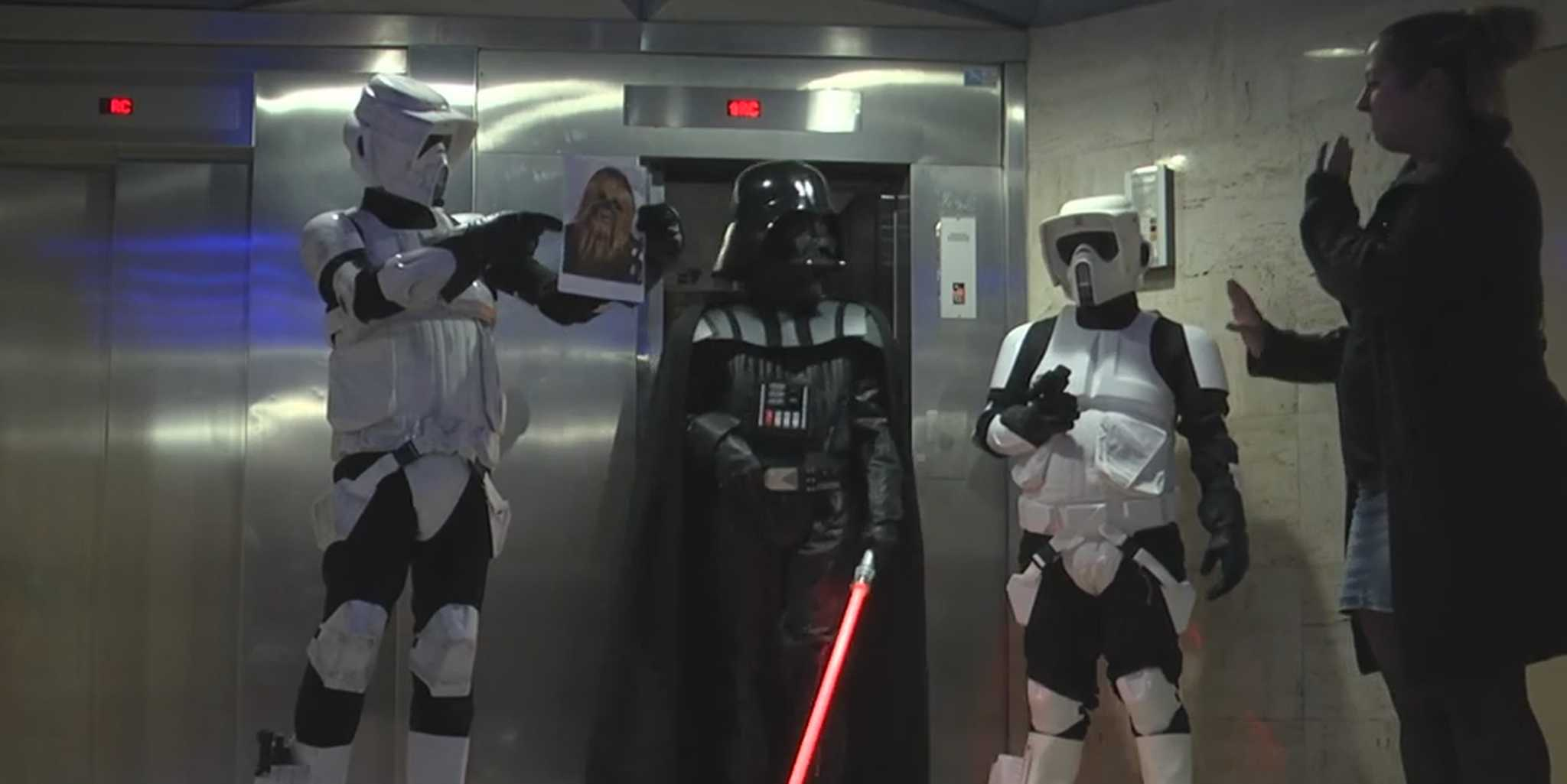 Office workers find themselves in the middle of a Star Wars battle  The Daily Dot