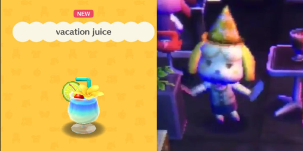 Animal Crossing Introduces Vacation Juice Definitely Not Booze