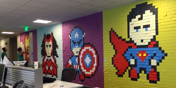 Superhero Post It Notes Office Walls