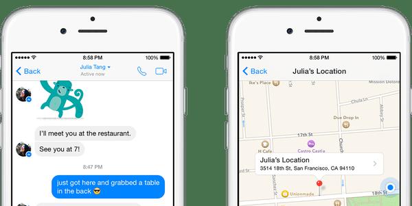 Consejos de Facebook Messenger: compartir ubicación en iPhone