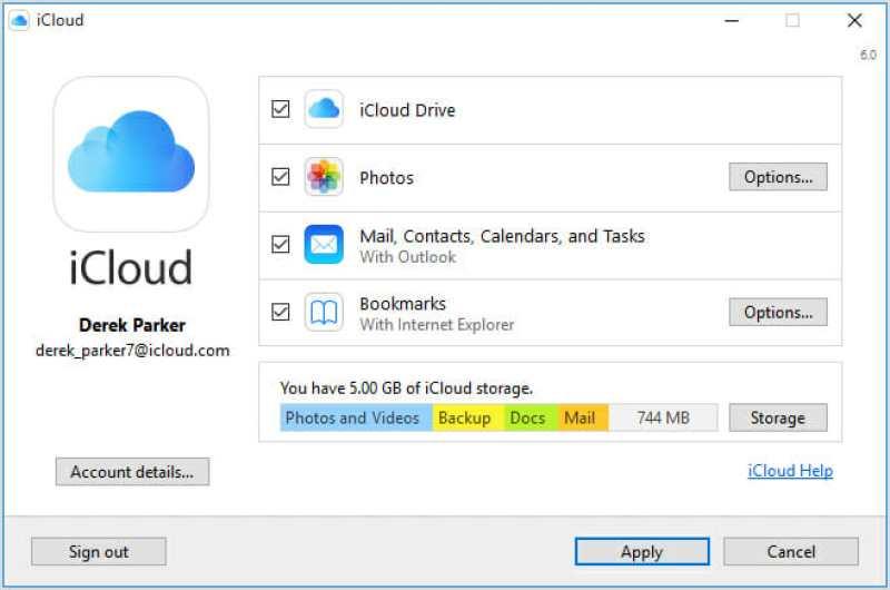 Cómo configurar iCloud en Windows