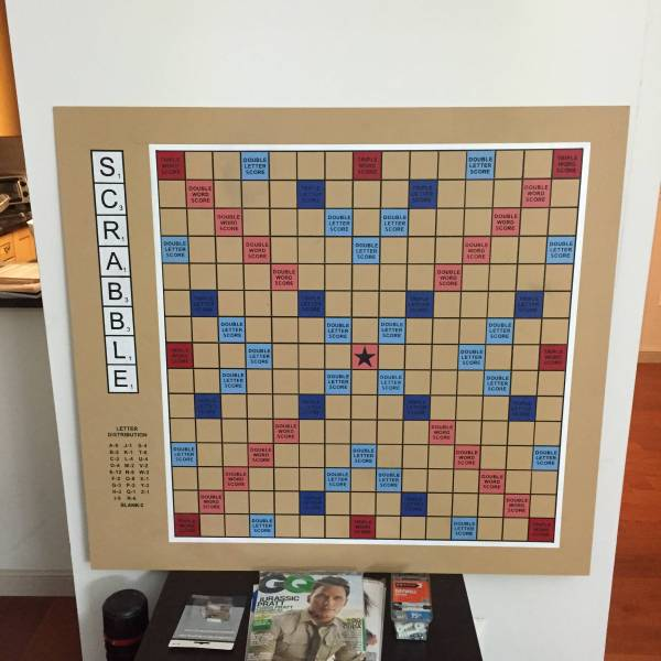 Giant Wall Scrabble Board Game