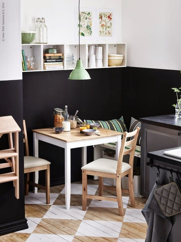 Ikea kitchen with twotone walls  Daily Dream Decor