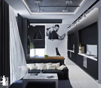 Small artsy monochromatic loft with a luxe vibe - Daily ...