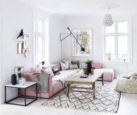 Lovely living room with rose quartz accents - Daily Dream ...