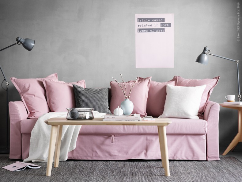 the dreamiest pink ikea couch daily