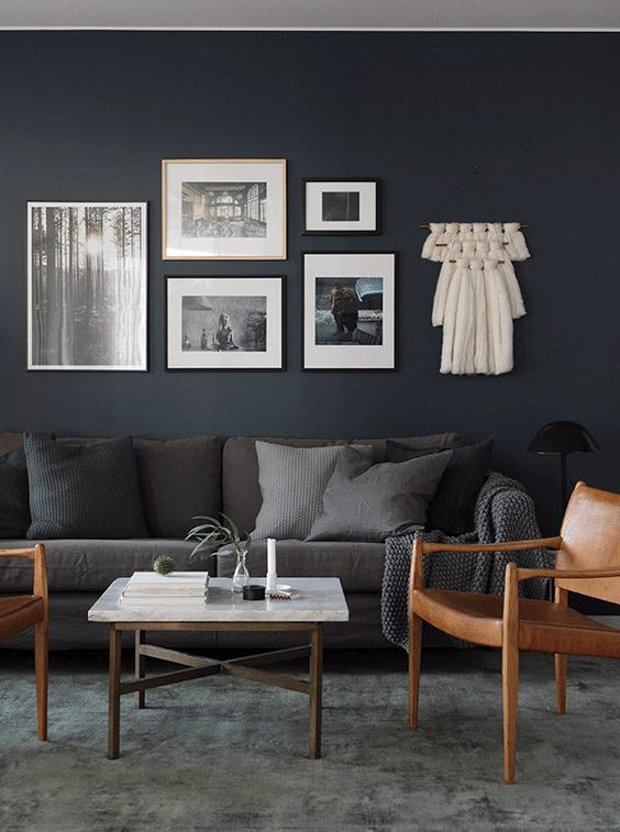 navy sofa cover l shaped sofas 5 dazzling shades of paint to try this fall - daily dream ...