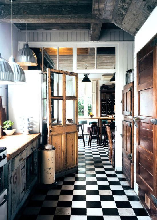 black and white tile kitchen in stock kitchens 10 dreamy rooms with tiles you will instantly love main