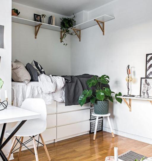 A teeny tiny dreamy studio apartment - Daily Dream Decor